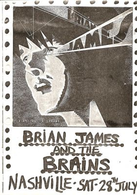 Flyer for the Brains' Nashville Rooms gig, London '79. Click image to enlarge.