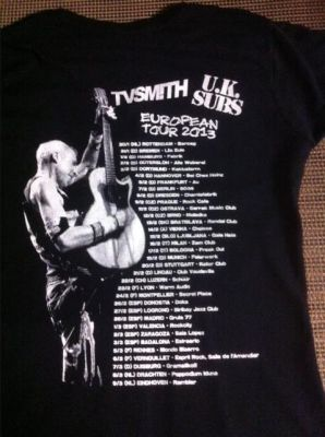 TV Smith tour t-shirt back - click to enlarge