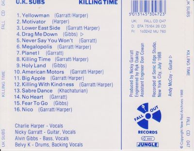 FALL CD 047 back cover