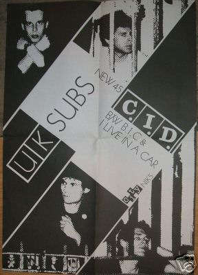 C.I.D promotional poster for record shops, 1978
