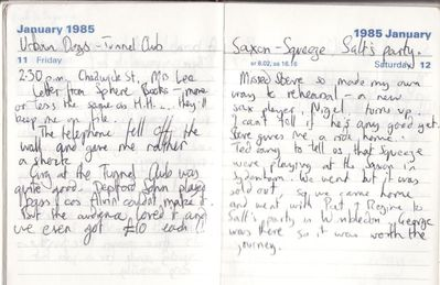 Diary entry for 11 January 1985 - click to enlarge