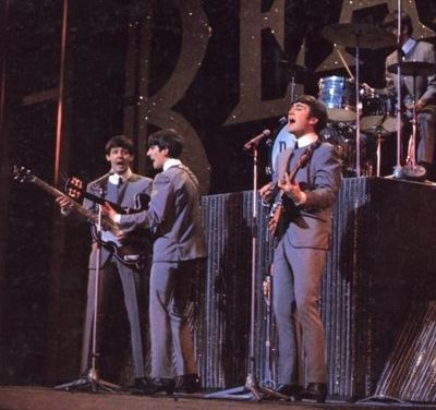 The Beatles perform on 'Sunday Night at the London Palladium' - click image to enlarge