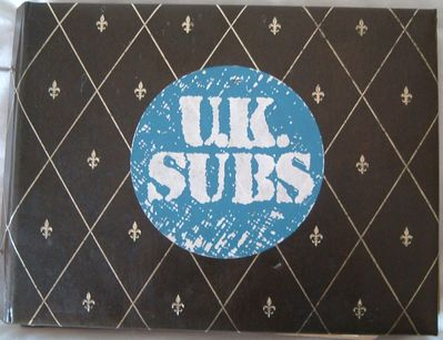 Mr Davies Snr U.K. Subs scrapbook 1978-80 - click image to enlarge