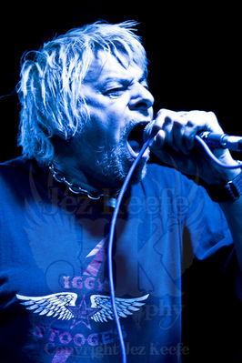Charlie  Harper - vocals & harmonica - click image to enlarge. Photograph courtesy of Jez Keefe. No copying of Jez's work without permission. www.jezkeefephotography.com