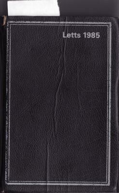 Matthew Best's 1985 diary (front cover) - click to enlarge