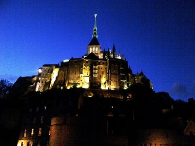 Mont-Saint-Michel by night - click to enlarge
