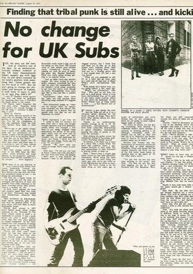 No change for UK Subs