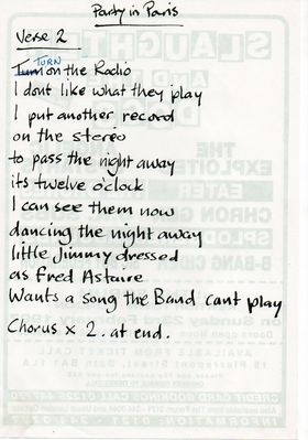 Party In Paris Lyrics 2