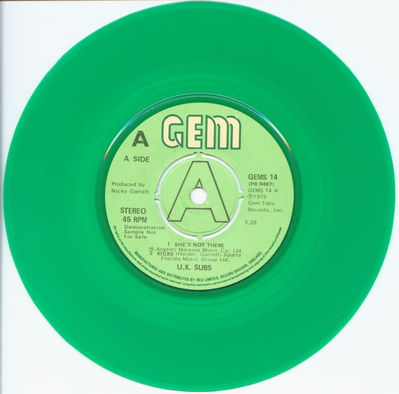 Green Vinyl Demo A-Side