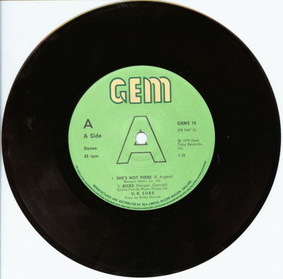 Black Vinyl Solid Centre A-Side
