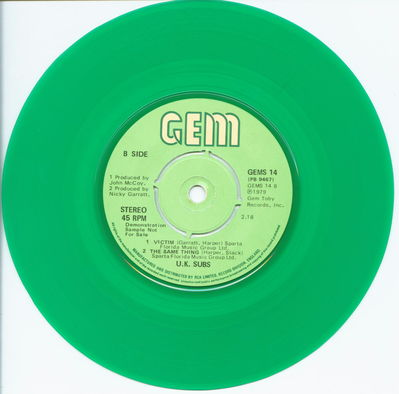 Green Vinyl Demo B-Side