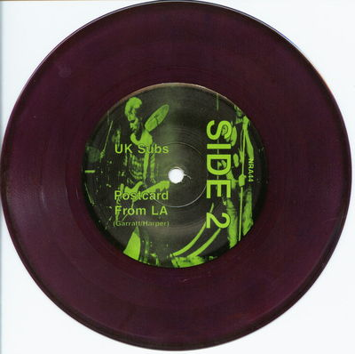 Purple vinyl B-side