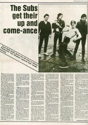 Melody Maker article page 1