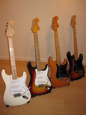 The Fender Strat Family - click image to enlarge