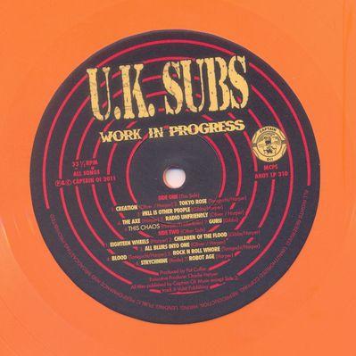Orange Vinyl Side 1