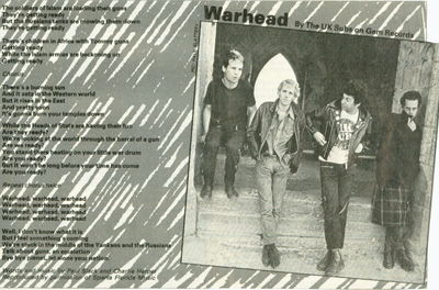 Warhead Lyrics (Smash Hits) Click to enlarge