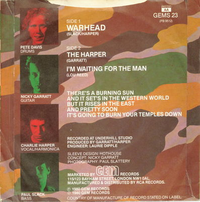 Warhead Back Cover (UK)