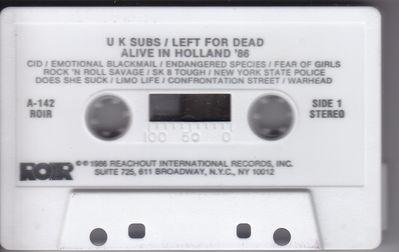 White cassette Side 1