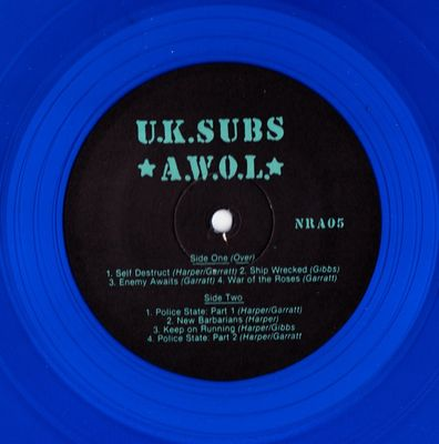 Blue vinyl (Alternate label) side 2