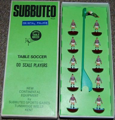 1960s Subbuteo Crystal Palace team - click image to enlarge