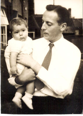 My father (in civies and minus his Para weaponary) and I contemplate the monochrome nature of the late 1950s - click image to enlarge