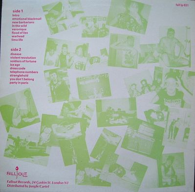 FALL LP031 green on pink back cover