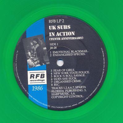 RFBLP2 Green vinyl Side 1