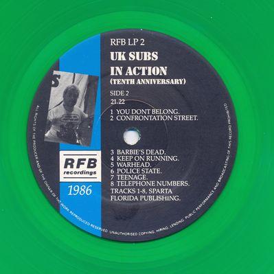 RFBLP2 Green vinyl Side 2