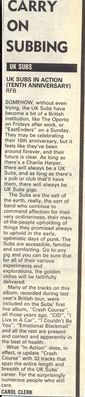 Melody Maker review, 19th April 1986