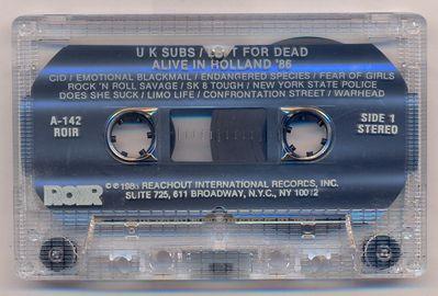 Clear cassette, side 1