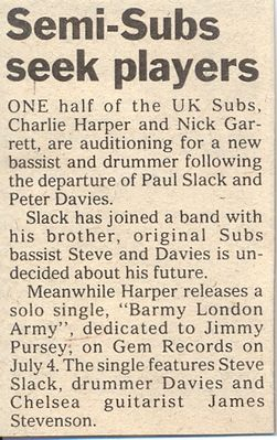 Melody Maker news article