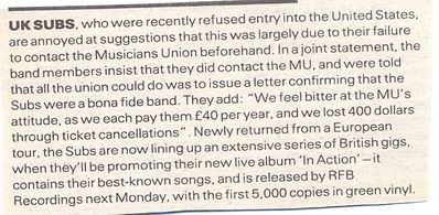 NME press article