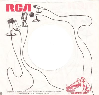 Canadian RCA company sleeve back