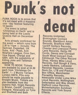 News article in Record Mirror, 7th November 1981