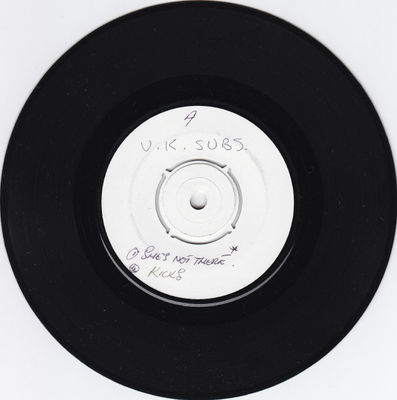White label, black vinyl A-side