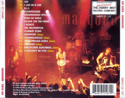 MAYOCD107 back cover